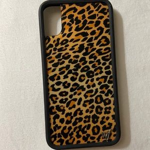 Wildflower Cheetah Print iPhone X/XS Case